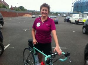 Dr Rachel Hemsley completes 101 mile charity team bike ride for Bristol Rugby Community Foundation